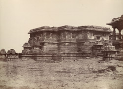 Hullabeed. The Great Temple. South-east angle. [Hoysaleshwara Temple, Halebid.]